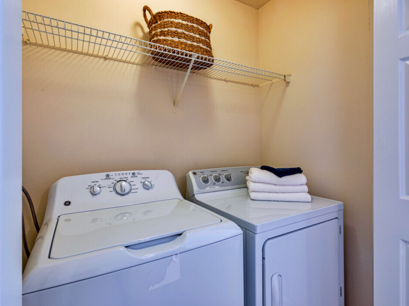TGM Bermuda Island Apartments Washer and Dryer Room